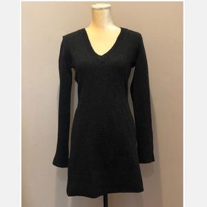 Theory 100% Wool V-Neck Dress Size S